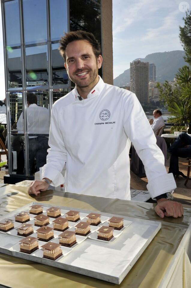 """Christophe Michalak - Festivités pour le 25eme anniversaire du restaurant """"Le Louis XV"""" a Monaco, le 17 novembre 2012."""