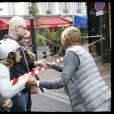 Exclusif - Isabelle Balkany (adjointe au maire de Levallois-Perret) sur les lieux de l'incendie qui s'est déclaré dans la nuit du 17 au 18 août 2019. Levallois-Perret, le 18 août 2019.