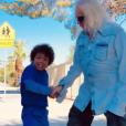 Michel Polnareff a partagé cette photo de lui et de son fils Louka, à Los Angeles, le 19 août 2019 sur Twitter.
