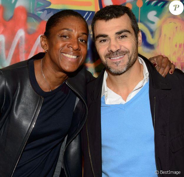 Exclusif - Marie-José Pérec et compagnon Sébastien Foucras - Croco Kids Party Lacoste au Pavillon Puebla à Paris le 16 septembre 2015.