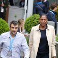 Marie-José Perec et Sébastien Foucras - People au village des internationaux de France de tennis à Roland Garros le 1er juin 2016. © Dominique Jacovides / Bestimage