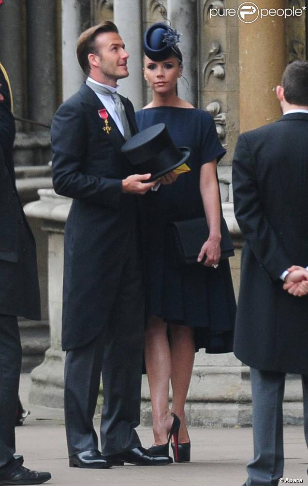 David et Victoria Beckham, déjà douze ans de mariage ! Ici, lors du mariage de Kate et William en avril 2011