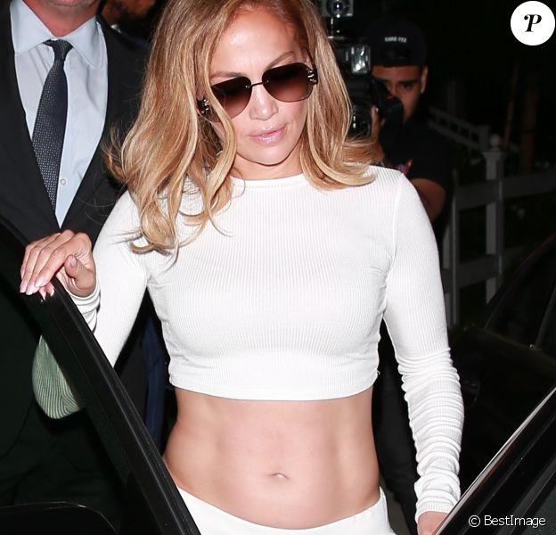 Jennifer Lopez et son fiancé A.Rodriguez sont allés dîner chez San Vicente Bungalows à West Hollywood le 24 août 2019 - Los Angeles