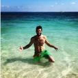 """Emeric de """"L'amour est dans le pré"""" en maillot de bain à la plage, en Bretagne, le 14 juillet 2019"""