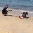 Nicola Sirkis en vacances avec ses fils a partagé cette photo sur Twitter le 25 août 2019.
