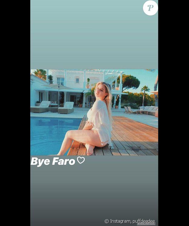 Darina Scotti-Vartan prend la pose dans une tenue immaculée pour ses dernier instants à Faro, au Portugal, le 27 août 2019.