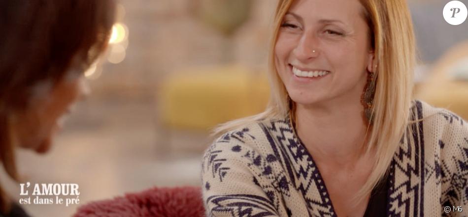 """Sandrine - """"L'amour est dans le pré 2019"""", le 2 septembre 2019 sur M6."""