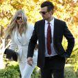 La chanteuse Fergie et son mari Josh Duhamel au Mountain Gate Country Club apres le bapteme de leur fils Axl Jack a Bel Air, le 12 decembre 2013.