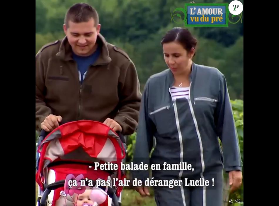 """Virginie de """"L'amour est dans le pré"""" présente sa fille Lucile et son compagnon Thomas dans """"L'amour vu du pré"""", lundi 2 septembre 2019, sur M6"""