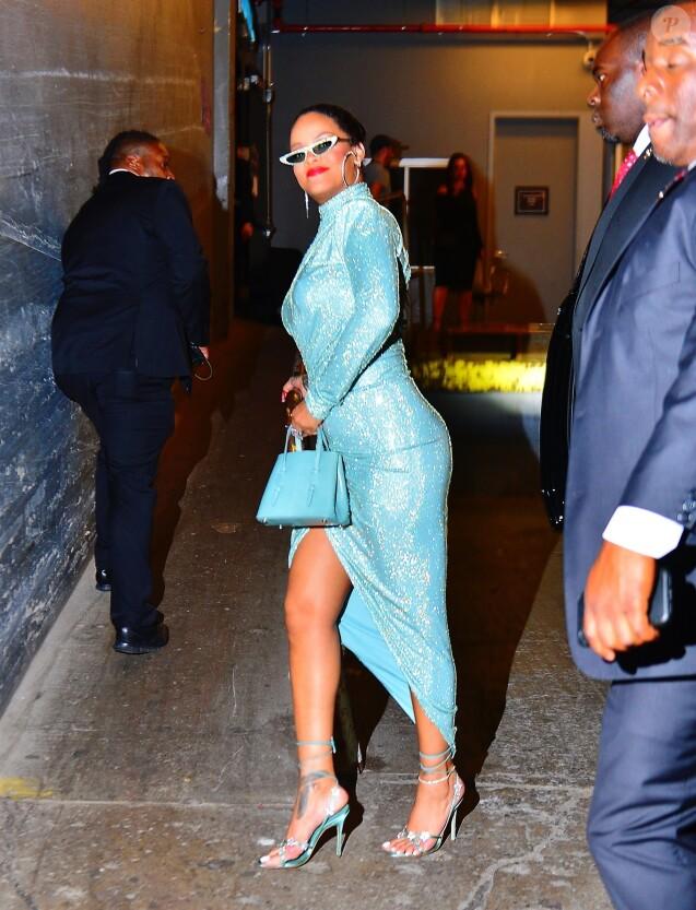 Rihanna pour le défilé Savage X Fenty lors de la Fashion Week 2019 à New York, le 10 septembre 2019.
