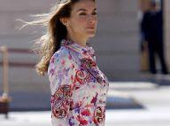 """Letizia d'Espagne en robe courte et colorée... pour un look au top pour la plus belle """"first lady"""" !"""
