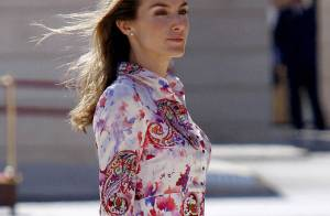 Letizia d'Espagne en robe courte et colorée... pour un look au top pour la plus belle