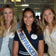 Sophie Thalmann,Vaimalama Chaves, Miss France 2019 et Camille Cerf à l'opération Charity Day chez Aurel BCG partners à Paris le 11 septembre 2019. © Veeren / Bestimage 11/09/2019 - Paris