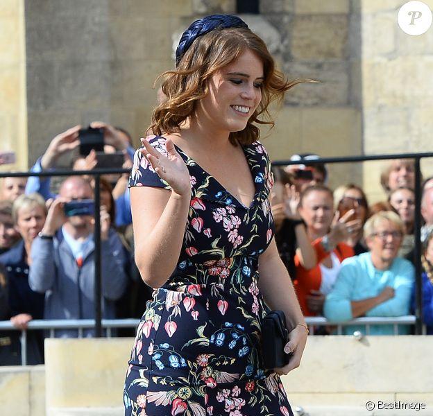La princesse Eugenie d'York au mariage d'Ellie Goulding et Casper Jopling le 31 août 2019 à York.