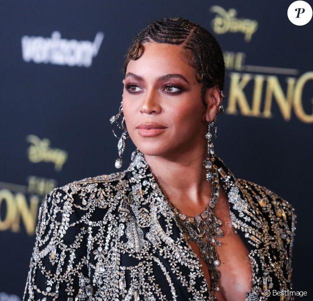 """Beyoncé à la première mondiale du film """"Le Roi lion"""" au cinéma Dolby à Hollywood le 9 juillet 2019."""