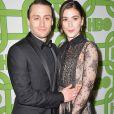 """Kieran Culkin et sa femme Jazz Charton - Photocall de la soirée """"HBO 's Official Golden Globes Awards After Party"""" au restaurant Circa 55 à Beverly Hills. Le 6 janvier 2019."""