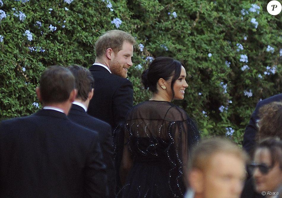 Le prince Harry et Meghan Markle - Mariage de la styliste Misha Nonoo avec Michael Hess à la Villa Aurelia à Rome, le 20 septembre 2019.