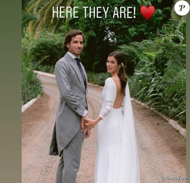 Feliciano Lopez et Sandra Gago lors de leur mariage le 20 septembre 2019 à Marbella, photographiés par un proche (source : Instagram).