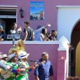 Meghan Markle, duchesse de Sussex, et le prince Harry en visite dans le quartier de Bo-Kaap au Cap, le 24 septembre 2019 dans le cadre de leur visite officielle et de l'Heritage Day, un jour férié dans le pays.