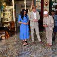 Le prince Harry, duc de Sussex, et Meghan Markle, duchesse de Sussex, en visite du Musée du Distric 6 au Cap dans le cadre de leur visite officielle en Afrique du Sud, le 23 septembre 2019.