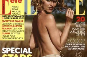 La magnifique Eva Herzigova topless dans les champs... Le bonheur est dans le pré !