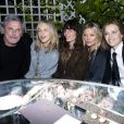 Thierry Gillier (fondateur et le PDG de la marque Zadig & Voltaire), Cécilia Bönström (directrice artistique de Zadig & Voltaire), Lou Doillon, Kate Moss et Eva Herzigova au défilé Zadig & Voltaire Collection Prêt-à-Porter Printemps/Eté 2020 lors de la Fashion Week de Paris, France, le 25 septembre 2019. © Olivier Borde/Bestimage