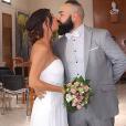 Anaïs Sanson et Carlos lors de leur mariage civil, le 15 juillet 2019