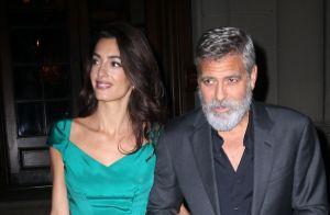George Clooney bien barbu s'offre une chic soirée avec Amal divine