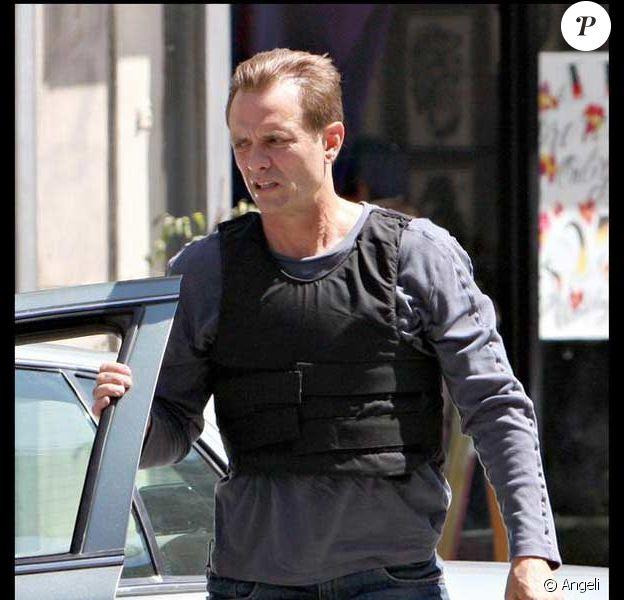 Michael Biehn sur le tournage Dark Blue à Los Angeles