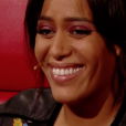 "Amel Bent dans ""The Voice Kids 2019"" sur TF1. Le 4 octobre 2019."