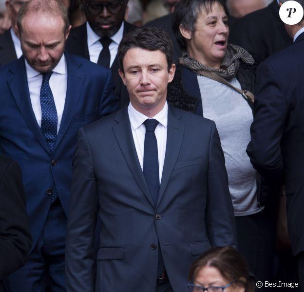 Benjamin Griveaux - Sorties des obsèques de l'ancien président de la République Jacques Chirac en l'église Saint-Sulpice à Paris. Le 30 septembre 2019 © JB Autissier / Panoramic / Bestimage