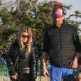 Josh Duhamel retrouve son ex Fergie pour passer la journée avec son fils Axl dans un parc de neige artificiel à Los Angeles. Le 23 février 2019.