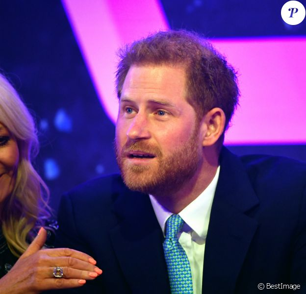 "Le prince Harry, duc de Sussex, lors du ""WellChild Awards"" à l'hôtel Royal Lancaster à Londres. Le 15 octobre 2019"