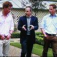 Matt Lauer interviewant les princes William et Harry pour la chaîne NBC à Londres en juin 2007 pour les dix ans de la mort de Lady Diana.