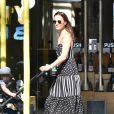 Pippa Middleton promenant son fils Arthur à Londres le 22 août 2019