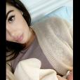 Nabilla Benattia dévoile une nouvelle photo de Milann et elle sur Snapchat, le 17 octobre 2019