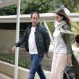 Albert Costa et Cristina Ventura - Les invités quittent l'île de Majorque après le mariage de Rafael Nadal et sa femme Xisca Perello, le 20 octobre 2019.