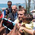 Emmanuel Macron, président de la République - Le président de la République française en visite à Mamoudzou, la capitale de Mayotte le 22 octobre 2019. © Jacques Witt / Pool / Bestimage