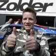 L'athlète handisport Marieke Vervoort exauce son voeu et pilote une Lamborghini sur circuit à Zolder, Belgique le 12 septembre 2019.