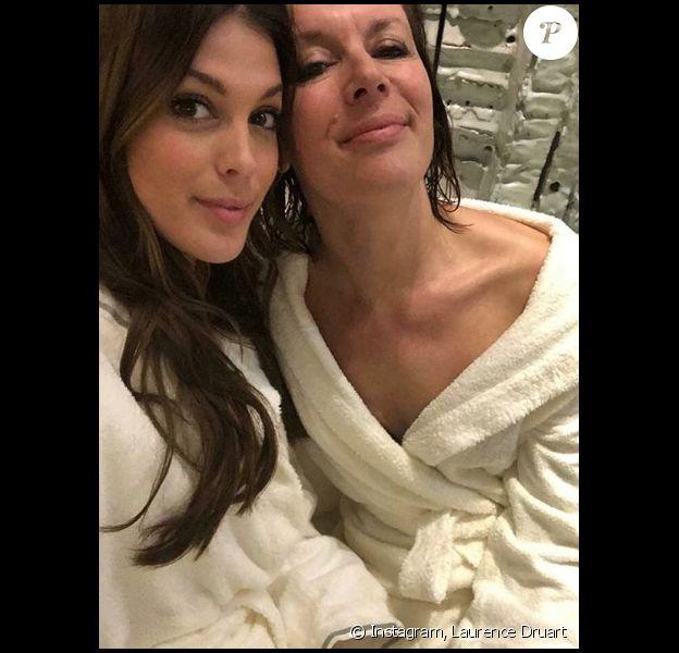 Laurence Druart et sa fille Iris Mittenaere, sur Instagram. Le 19 janvier 2019.