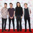 Liam Payne, Louis Tomlinson, Harry Styles et Niall Horan (du groupe One Direction) à la Soirée des BBC Music Awards 2015 à Birmingham. Le 10 décembre 2015.