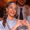 Shy'm sur le plateau de Danse avec les stars le 26 octobre 2019.