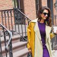 Amal Clooney sort de son domicile à New York, le 1er octobre 2019.