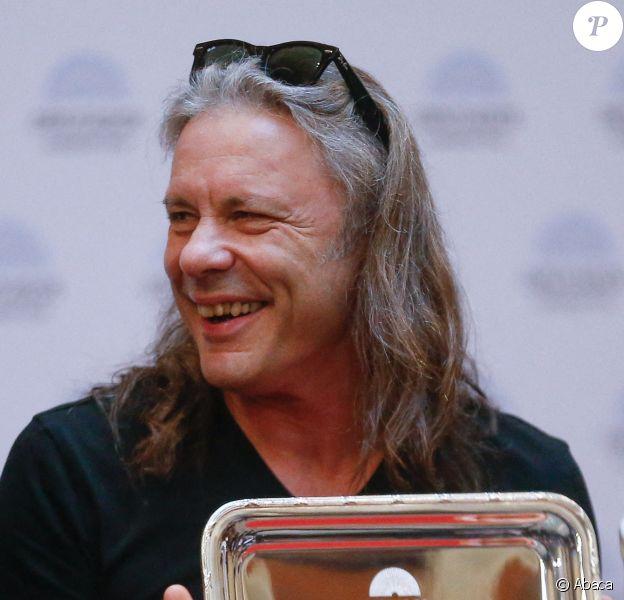 Bruce Dickinson d'Iron Maiden le 11 octobre 2019à Buenos Aires en Argentine lors d'un hommage rendu au groupe par le Congrès argentin.