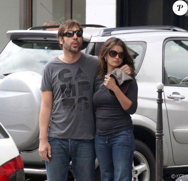 Penélope Cruz et Javier Bardem à Paris le 14 juillet 2009