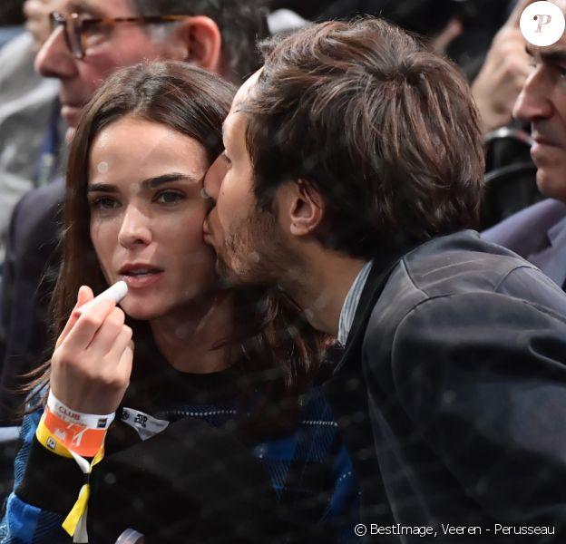 Vianney Bureau (Vianney) et sa compagne Catherine Robert - People lors de la finale du tournoi Rolex Paris Masters 2019 à Paris le 3 novembre 2019. © Veeren - Perusseau / Bestimage