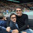 Yvan Attal et Pascal Elbé - People lors de la finale du tournoi Rolex Paris Masters 2019 à Paris le 3 novembre 2019. © Veeren - Perusseau / Bestimage