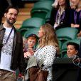 Kim Sears à Wimbledon le 9 juillet 2019.