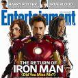 Scarlett Johansson, Robert Downey Jr. et Mickey Rourke en couverture d'Entertainment Weekly