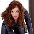 Scarlett Johansson lors du tournage de Iron-Man 2